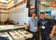 Ukraine dealer Andrei and Euro Tech Liam at Fespa 2014